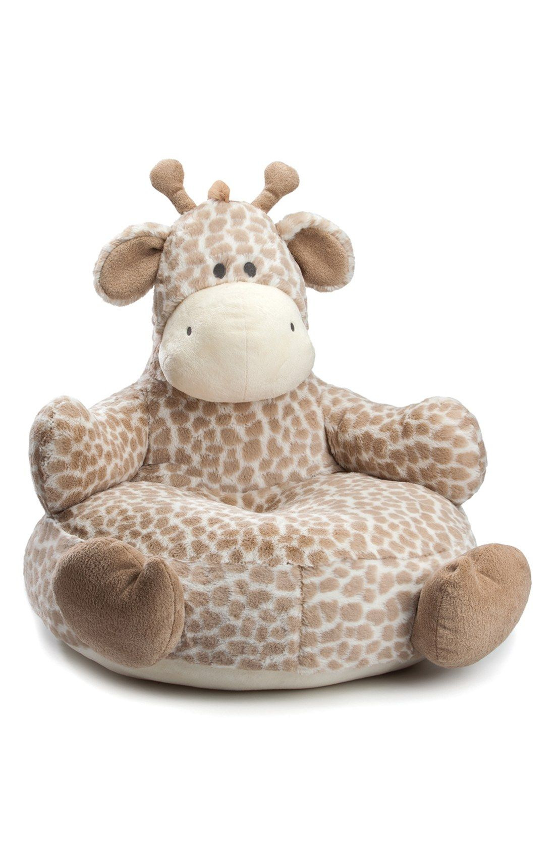 children s stuffed animal chairs swivel chair outdoor furniture infant nat and jules giraffe plush baby scarlett o