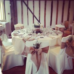 Christmas Wedding Chair Covers Bike Desk Rustic Sashes Table Runners And Centrepiece