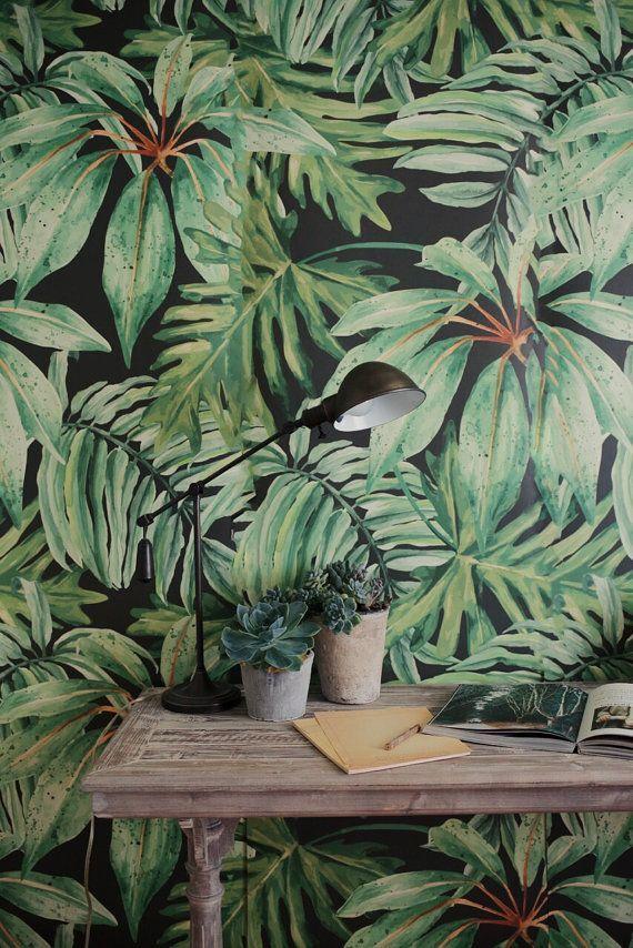 Fresh Greens + Tropical Leaf Decor Ideas