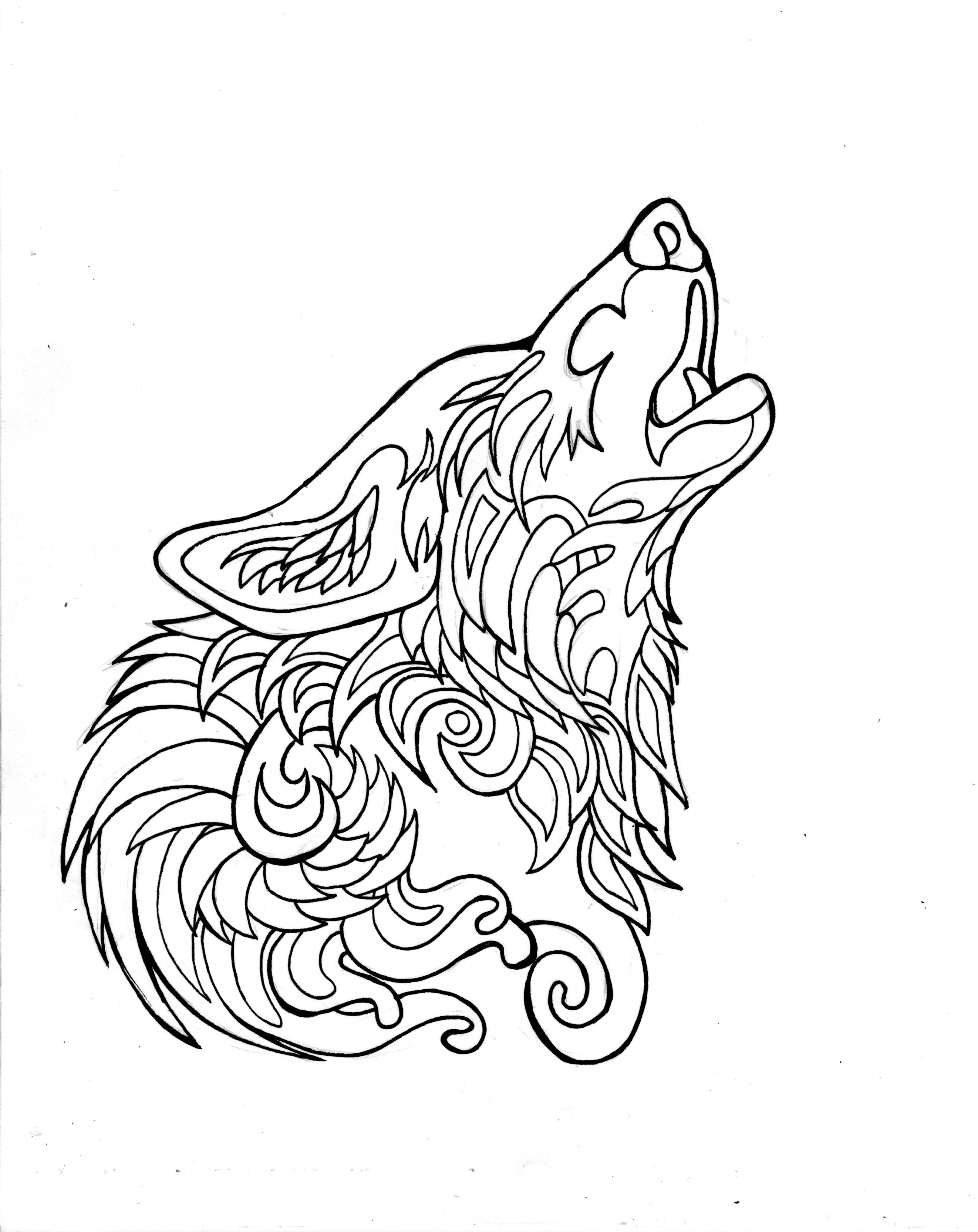 332- Free Howling Wolf Page by Lucky978.deviantart.com on
