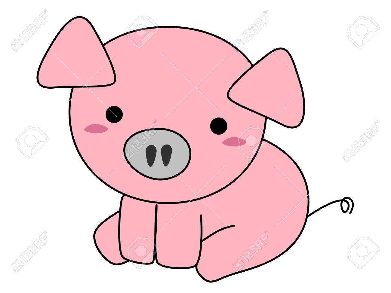 Cartoon Cute Pigs Wings