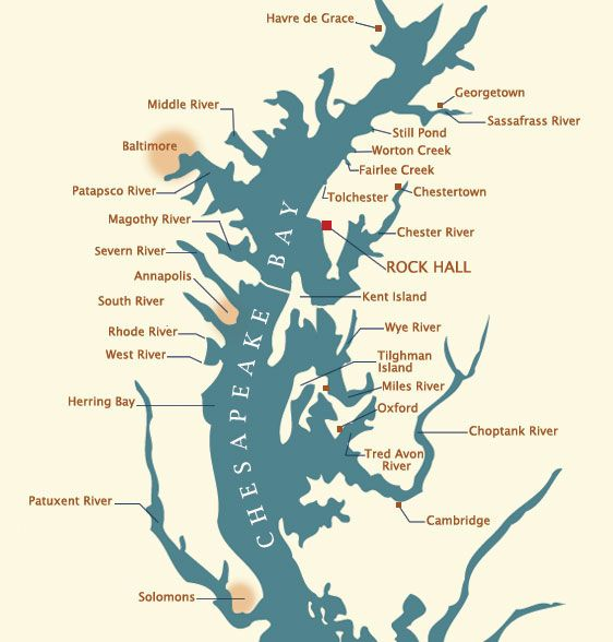 Chesapeake Bay Rivers Ports Harbors and Anchorages