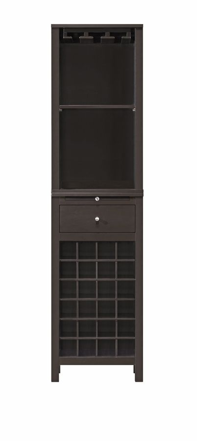 Kentucky Brown Modular Modern Wine Cabinet with Hanging