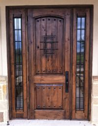 Rustic Wood Door: 2 Panel Vgroove Madrid Speakeasy with ...