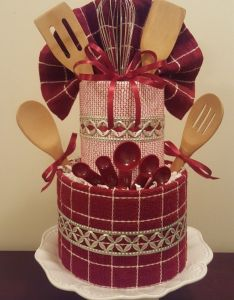 Kitchen themed towel cake bridal shower centerpiece  useful and unique check also rh pinterest