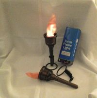 2 FAKE FLAME LAMPs Torch Light Fire torches Halloween Prop ...
