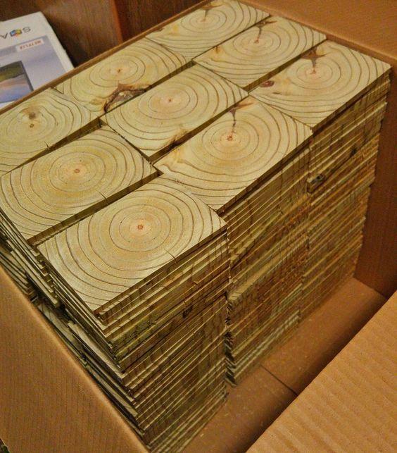 End Grain Wood Floor  haz  Pinterest  Woods Cabin and