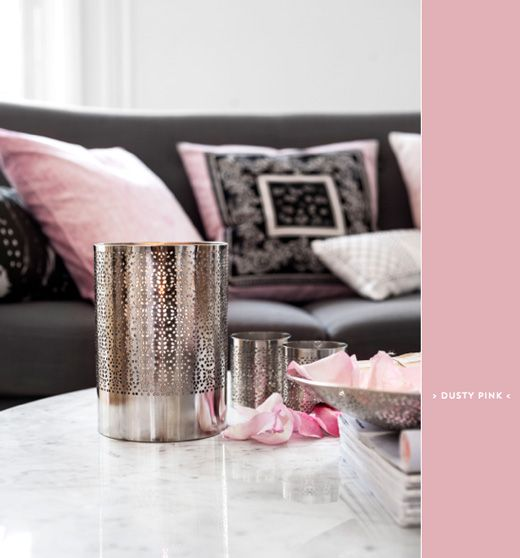 Colour Inspiration: Dusty Pink & Grey Interiors