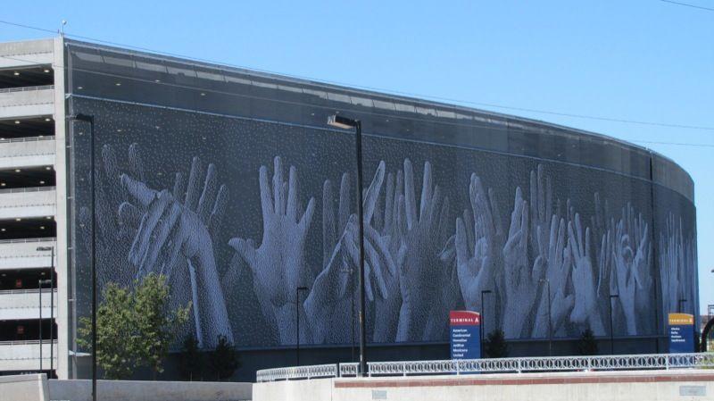 san jose airport garage  Google Search  Sculpture  Art  Street Art  Pinterest  San jose