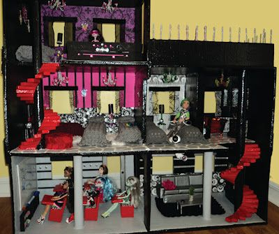 Lola's Mini Homes DIY Monster High Dollhouse Finally Finished
