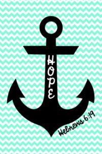 Cute anchor on chevron wallpaper! | Home Decor ...