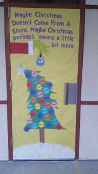 Christmas door, grinch door, school   Doors   Pinterest ...