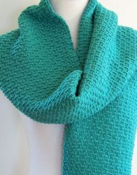 Knitting Pattern for 4-Row Slip Stitch Scarf - This easy ...