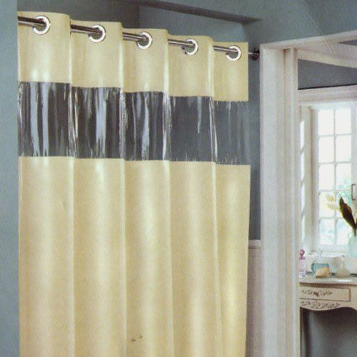 Hookless Shower Curtain With Window Hookless Shower Curtain