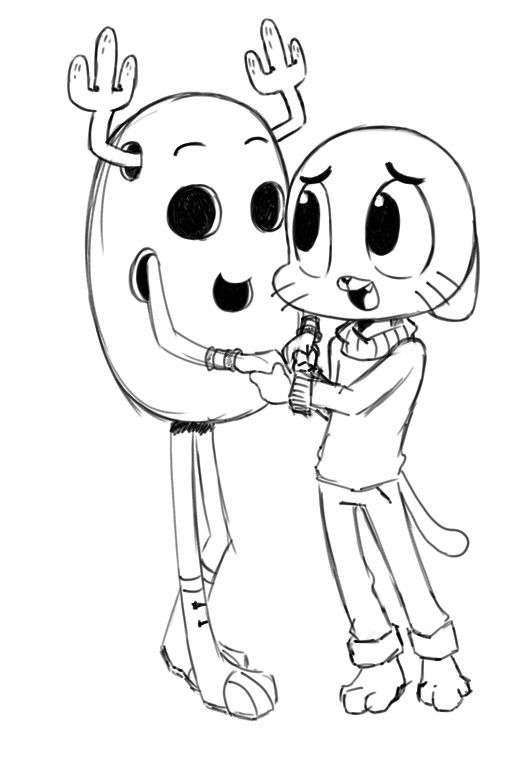 the amazing world of gumball coloring pages – gumball and