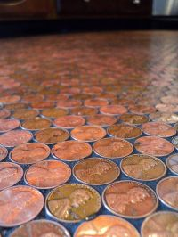 The Finished Penny Floor Mosaic - copyrighted image ...