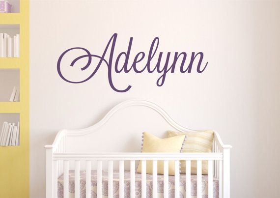 Childrens wall decals personalized name decal by lucylews also rh pinterest