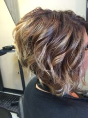 ombre short hair-stacked bob