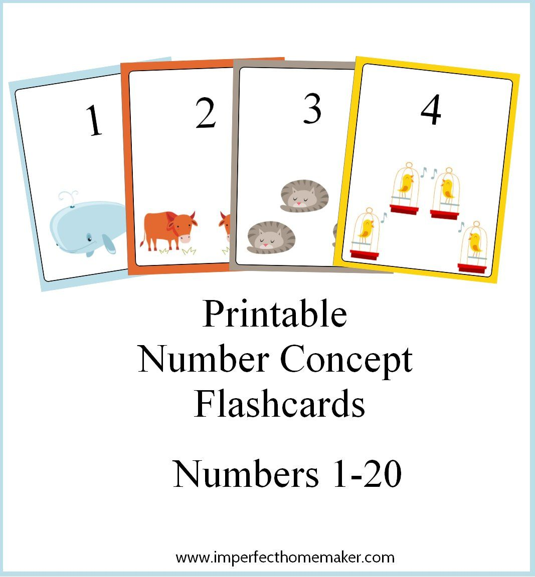 Printable Number Concept Flashcards