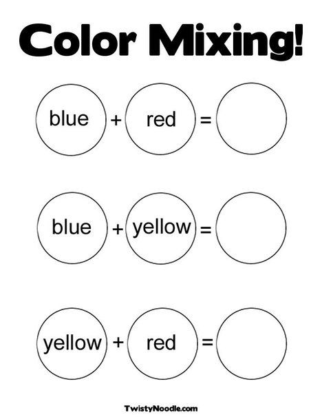 Color Mixing Coloring Page from TwistyNoodle.com
