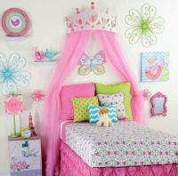 """Large 26"""" Pink Metal Crown Wall Decor Over the bed 3-d ..."""