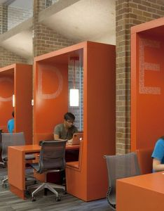 Team booths at odegaard undergraduate library university of washington also in active learning classroom photo by lara swimmer rh pinterest
