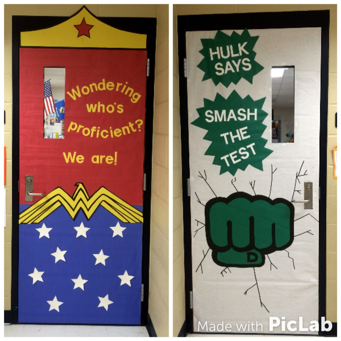 State testing classroom door decorations! Superhero themed