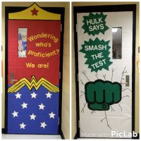 State testing classroom door decorations! Superhero themed