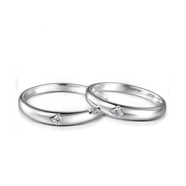 Inexpensive Couples Matching Diamond Wedding Ring Bands on