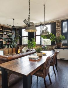 Room the open plan also dining area of  converted warehouse apartment in rh pinterest