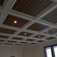 craftsman style vaulted ceiling drop soffit trim - Google ...