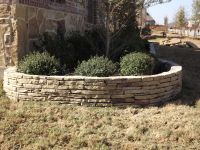 Stacked Stone Flower Bed Edging by C3 Backyard Oasis LLC ...