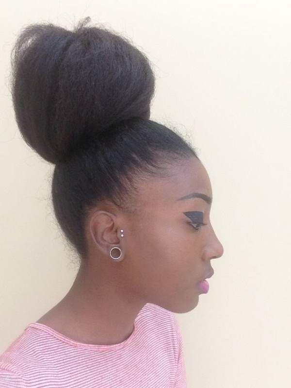 High Bun Hairstyle Her Bun Is Amazing ! Hair Pinterest High