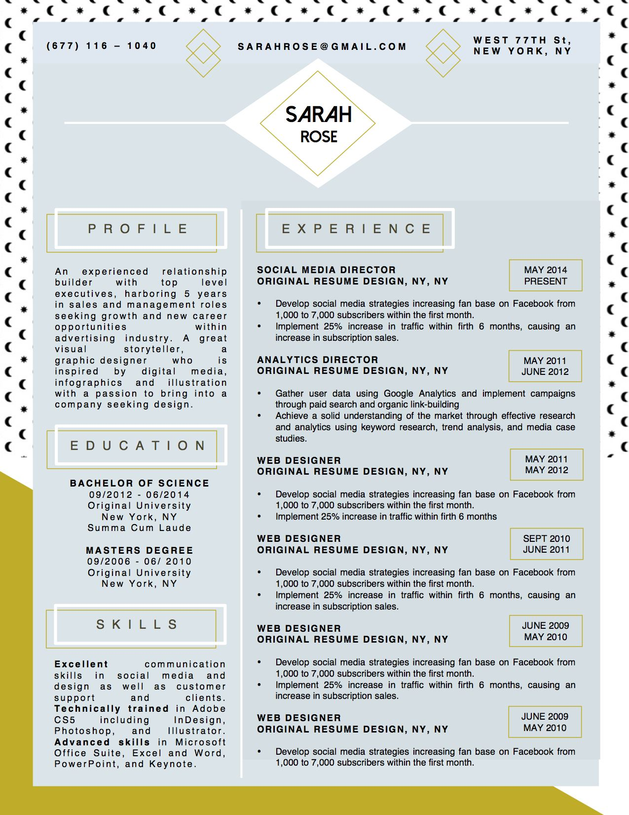 Beautiful Resume Layouts Beautiful Resume Cv Template For Microsoft Word With