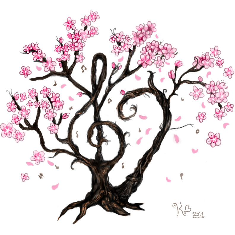 Trees Drawing Love Entwined Two