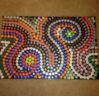 beer bottle cap art crafts | Beer bottle cap mural! Made ...