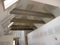 weathered beams / timbers / guest loft in the vaulted ...