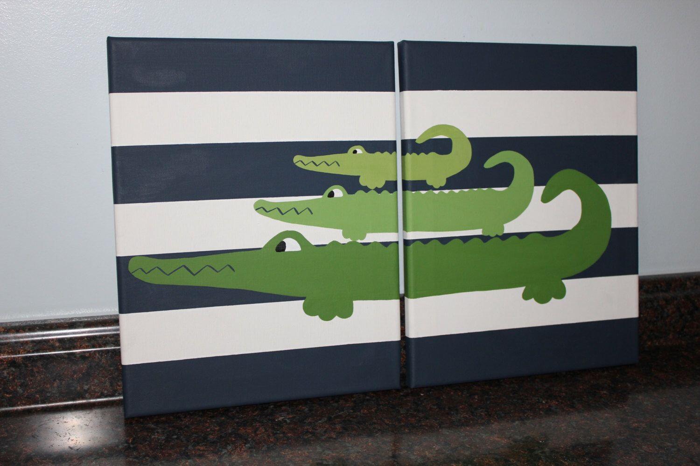 alligator nursery alligator madras alligator decor crocodile nursery