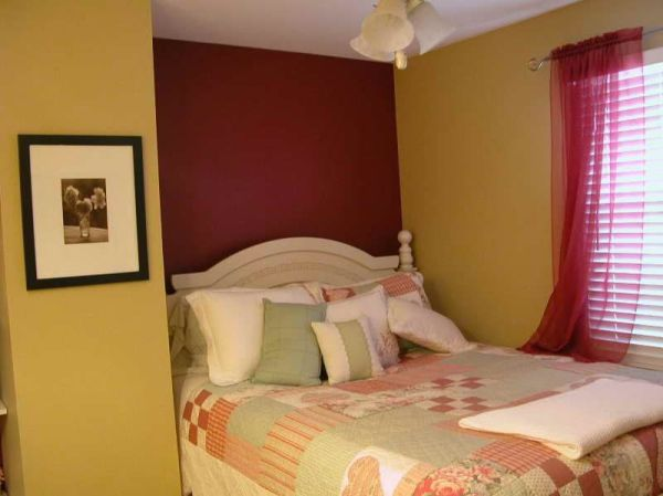 gold bedroom paint colors dark maroon with some yellow is exact contrast to each other. | Different Colour Combinations
