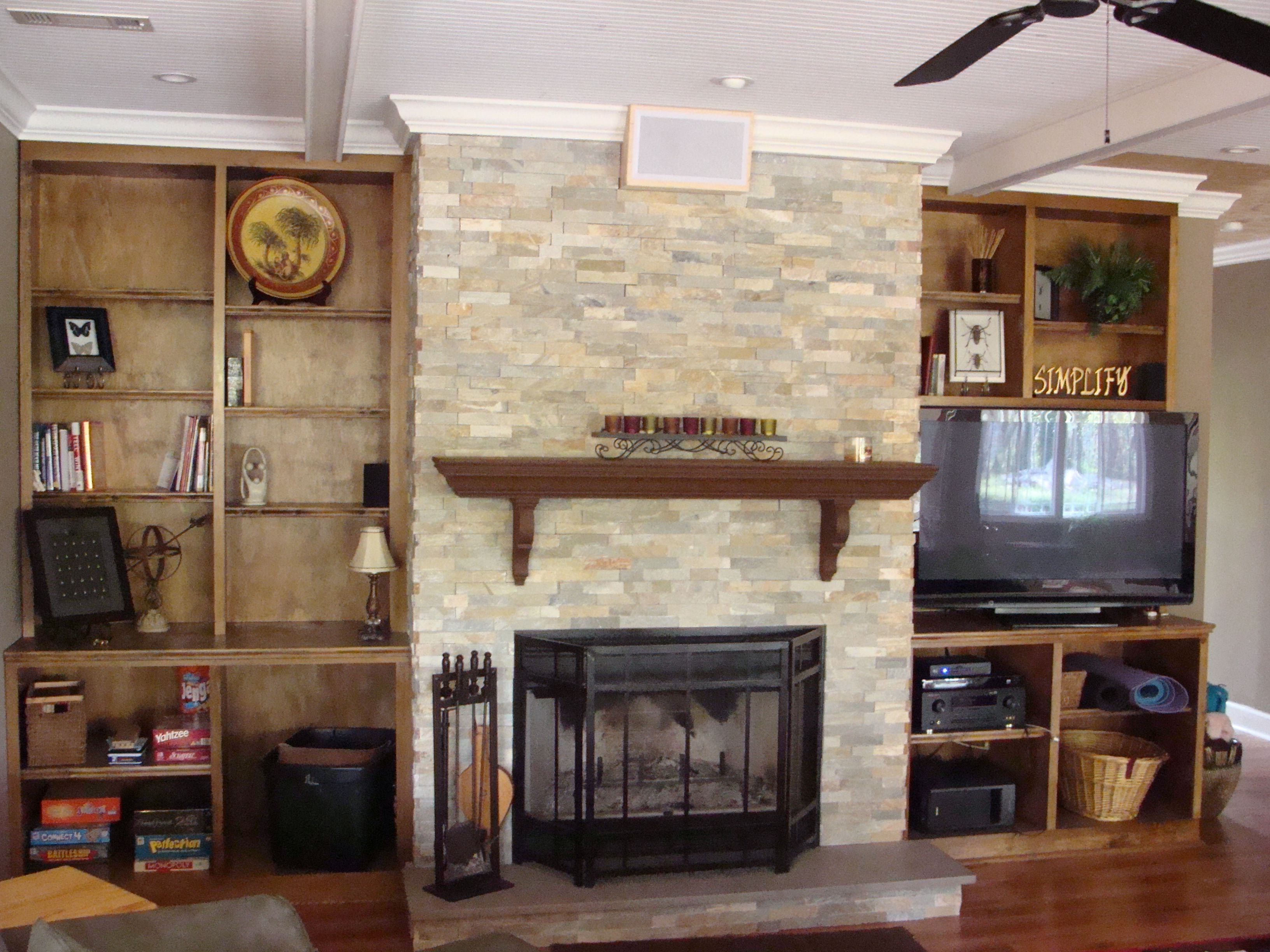 accessorize built in cabinets living room  BuiltIn