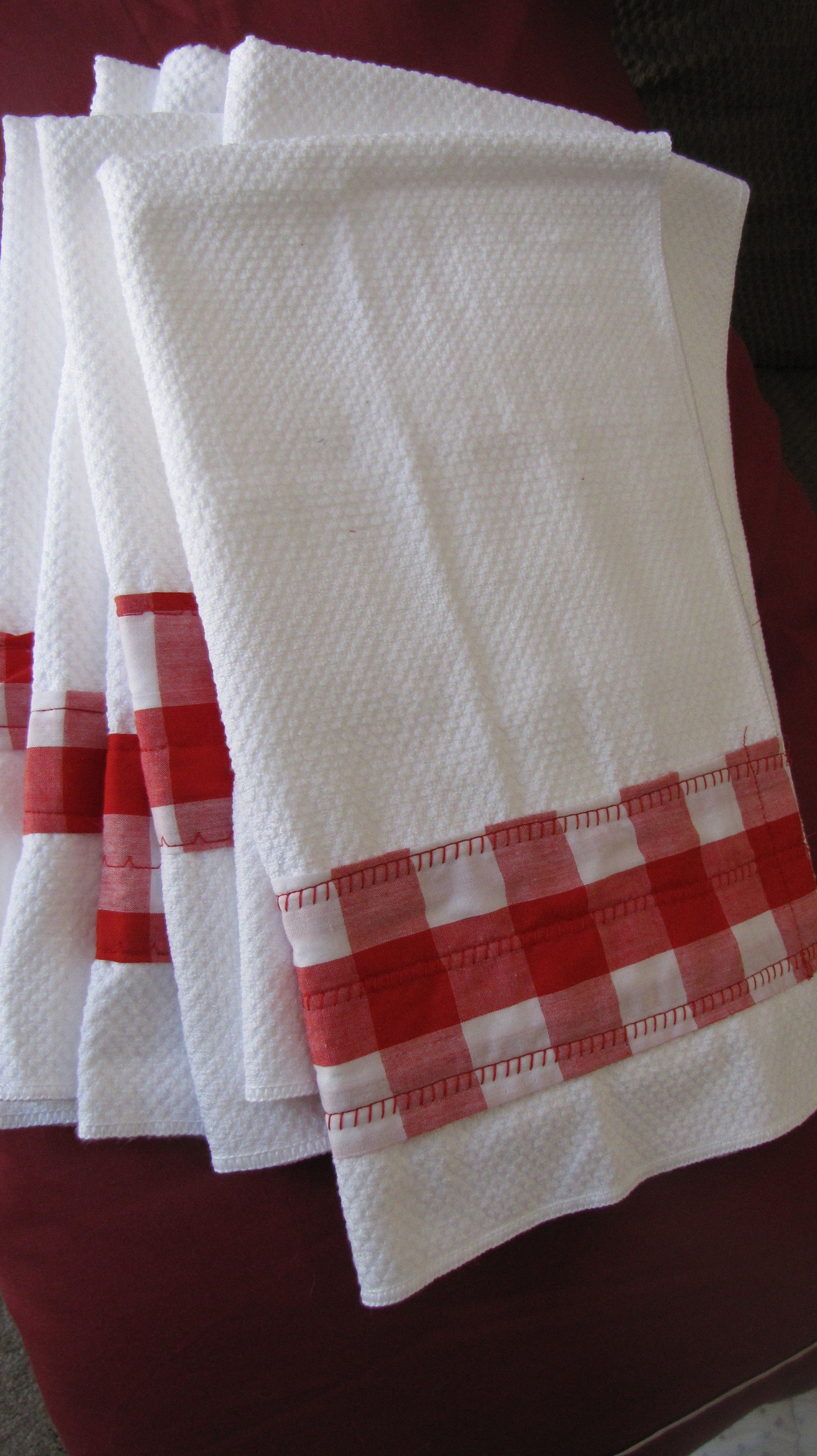 cheap kitchen towels accessories gingham sewed to walmart decorate