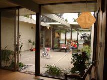 Mid Century Modern House Courtyard - Google Home