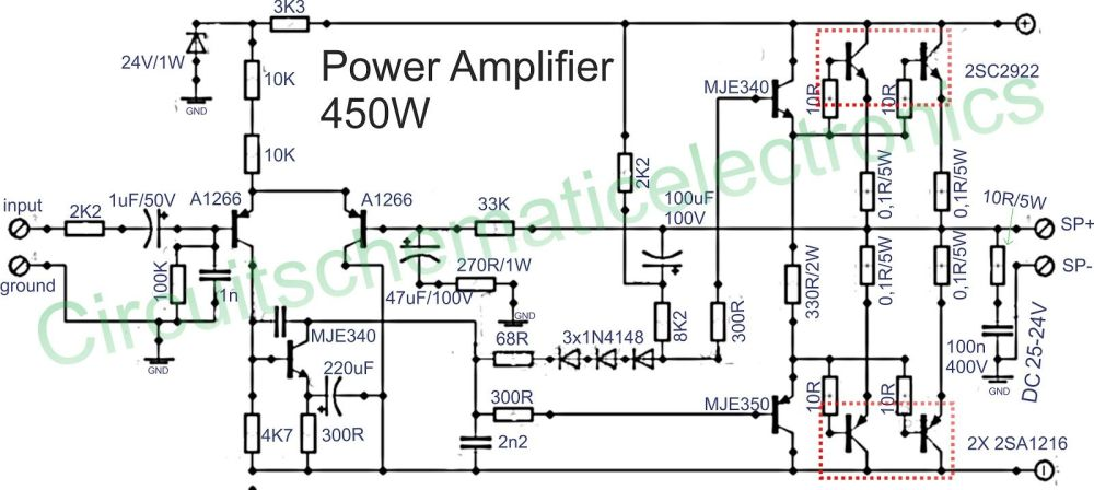 medium resolution of 1500w power amplifier circuit and components layout circuit of power amplifiers with power output of