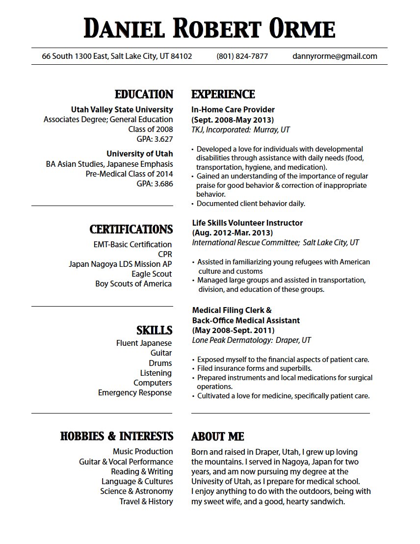 How To Keep Resume To One Page Resume Ideas