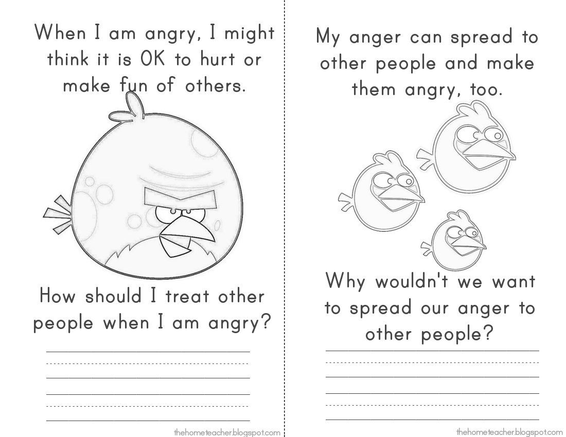 Don T Be An Angry Bird Lessons On Anger Management For Kids The More Printables Home Teacher