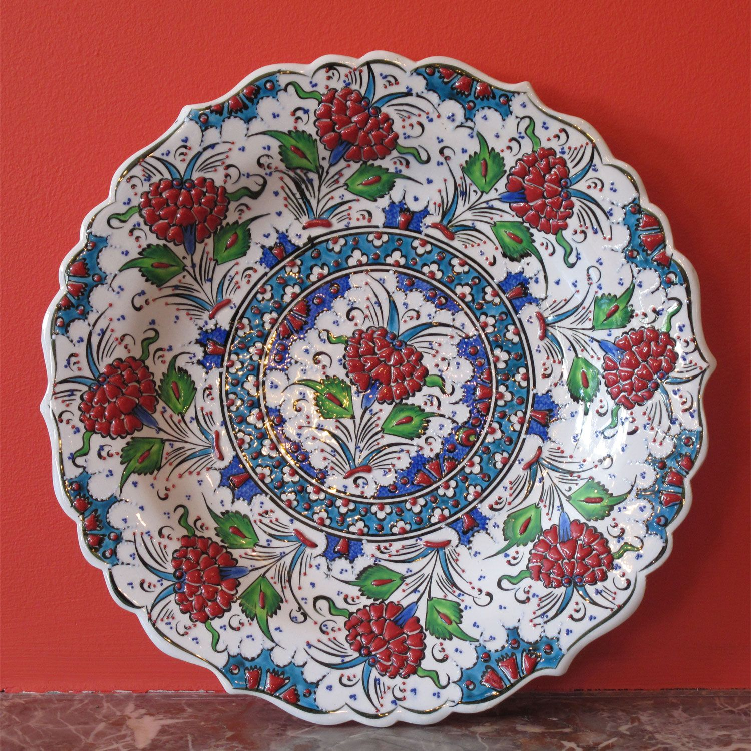 Style 680: Turkish Iznik Ceramic Plate.