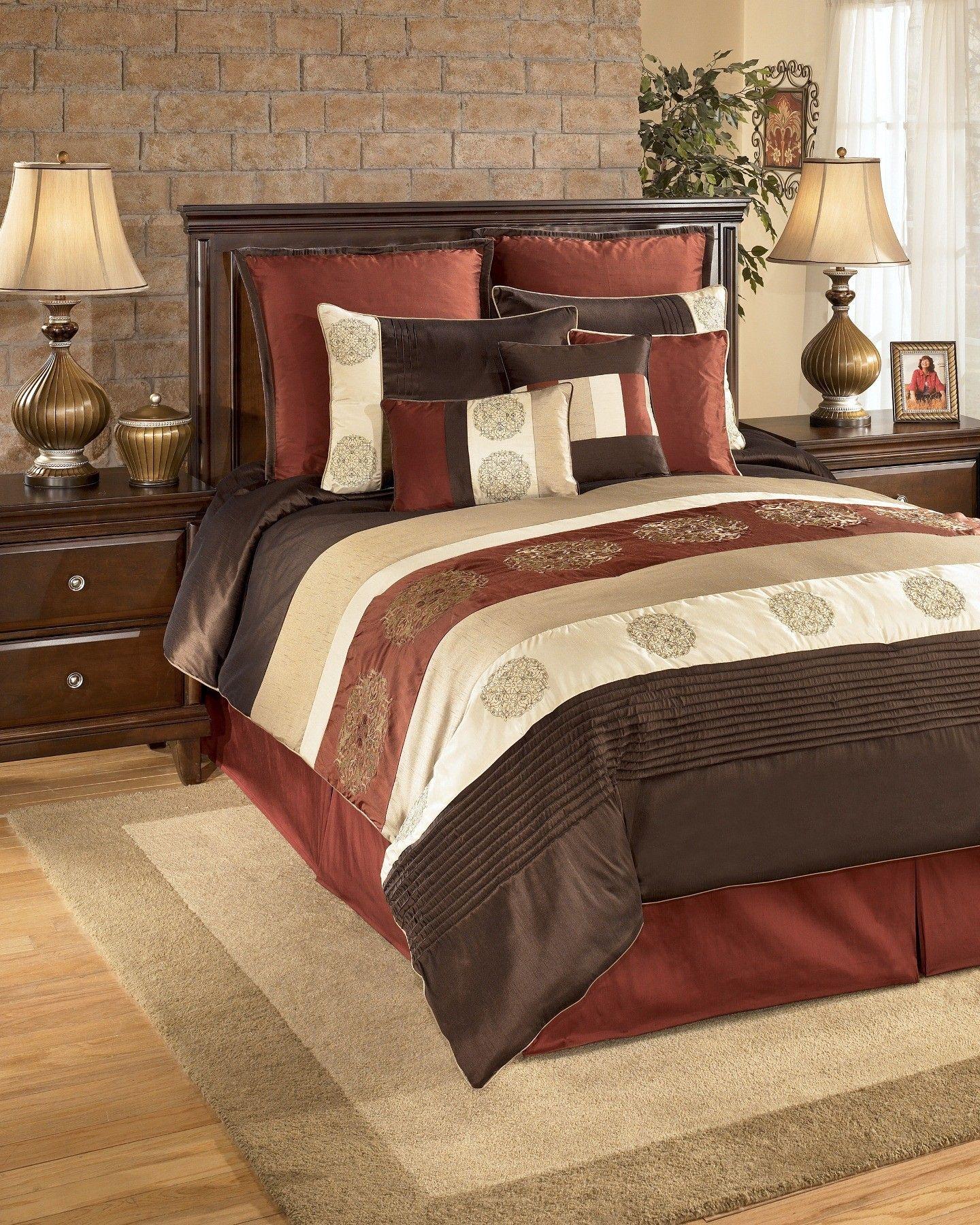 broyhill sofa nebraska furniture mart coasters oversized king size bedding 126x120 milano russett