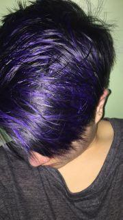 purple highlights hair