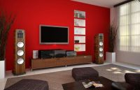 Red Living Room Paint Color With Tv Nice Room with ...