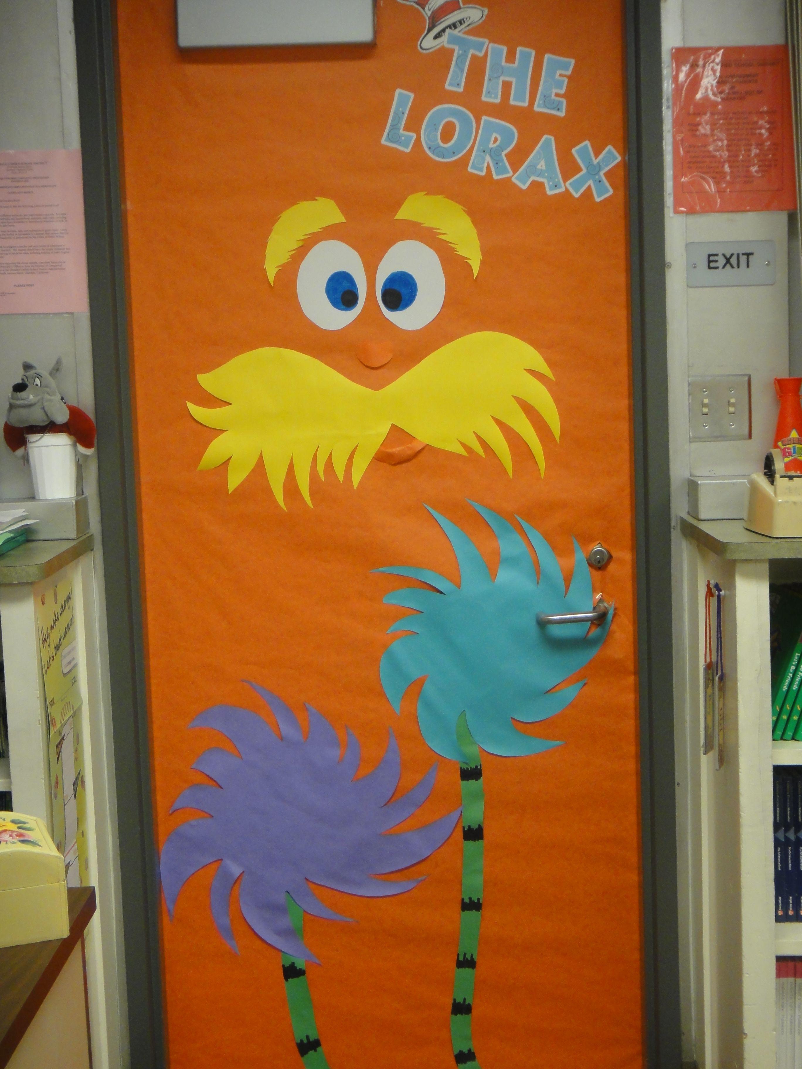 Read Across America Week....The Lorax door decoration